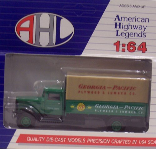 hartoy-03032-georgia-pacific-plywood-lumber-co-canvas-back-truck-1-64-by-american-highway-legends