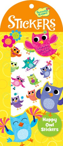 Peaceable Kingdom / Happy Owl Sticker Pack front-453025