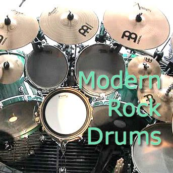 MODER ROCK DRUMS - HUGE Real Drums Samples Library on DVD - Import It All