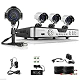 Security Camera 8 CH Channel H.264 DVR 4 Outdoor Night 600TVL Home CCTV Security Camera System