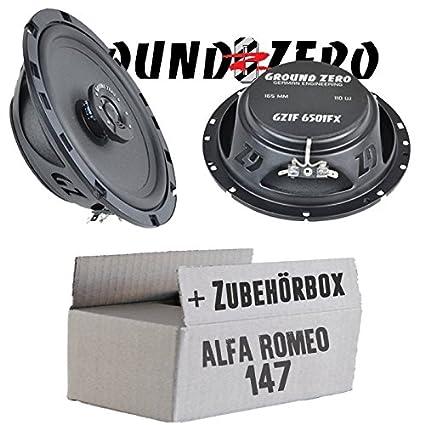 Alfa Romeo 147 - Ground Zero GZIF 6501FX - 16cm Lautsprecher Koax flach - Einbauset