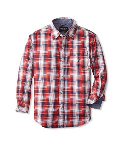 Nautica Boy's Woven Plaid Shirt