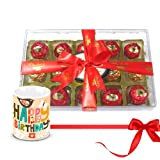 Delightful Nicely Wrapped Choco Treat With Birthday Mug - Chocholik Luxury Chocolates