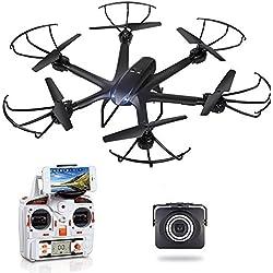 GoolRC X600 RC Hexacopter WiFi FPV Live Übertragung Quadrocopter Drohne mit Kamera Live Vide HD 720P Android/IOS APP kompatibel with 3D VR Headset,One-Key Return & Headless Mode & 360 Grad Flips Rolle