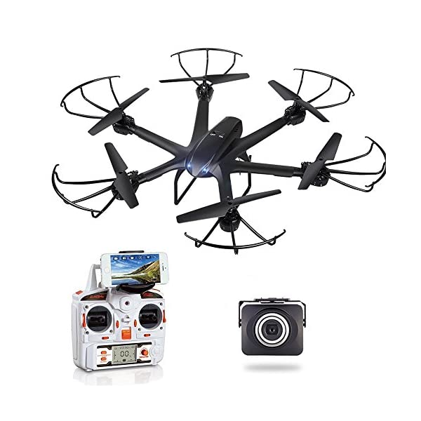 GoolRC-X600-RC-Hexacopter-WiFi-FPV-Quadcopter-Drone-with-Camera-Live-Video-HD-720P-AndroidIOS-APP-Compatible-with-3D-VR-HeadsetOne-Key-Return-Headless-Mode-360-Degree-Flips-Roll