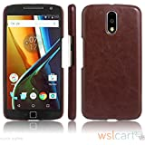 Octer Cover For Motorola Moto G4 Leather Back Cover (Brown)