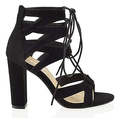 essex glam damen schnitten ferse pfennigabsatz sandalen im. Black Bedroom Furniture Sets. Home Design Ideas