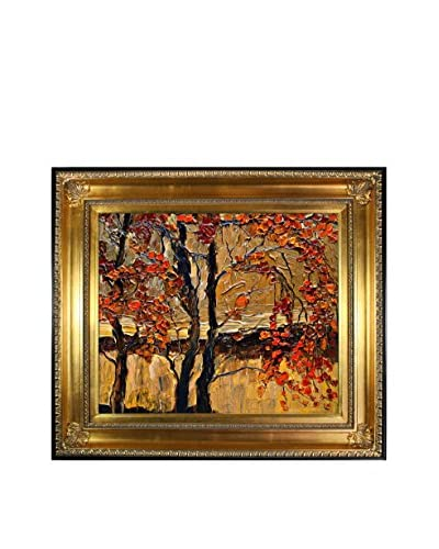 "Justyna Kopania ""Autumn (Tree)"" Framed Giclée on Canvas"