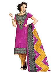 SSKP Women's Cotton Dress Material (FE_87_Multi-Coloured_Free Size)