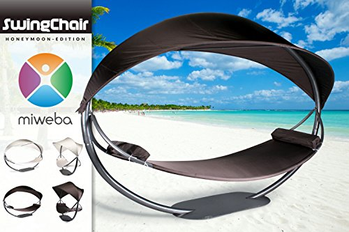 Miweba-Swing-Chair-HONEY-MOON-Hollywood-Schaukel-Hngestuhl-Liege-Sonnenliege-braun