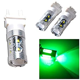 2Pcs Green 3156 4057 60W 12 CREE High Power LED Reverse Rear Back Up Light