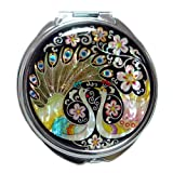 Antique Alive M117 Round Wedding Compact Mirror, 3.2 Ounce