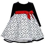 Bonnie Jean Baby-Girls Newborn Stretch Velvet To Glitter Organza Dress