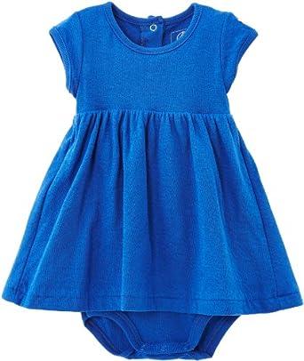 Petit Bateau - Combinaison - Uni - Bébé fille - Bleu (Pablito) - FR: 18 mois (Taille fabricant: 18 Mois)