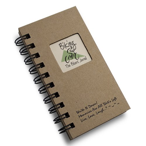 Biking, The Bikers Journal - MINI Kraft Hard Cover (prompts on every page, recycled paper, read more...)