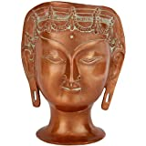 Goddess Tara Head - Brass Sculpture