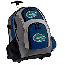 Florida Gators Rolling Backpack Deluxe Navy University of Florida - Backpacks Bags with Wheels or School Trolley Carry-On Suitcase Bags - Unique Gifts