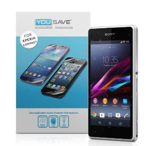 Yousave Accessories Sony Xperia Z1 Compact Screen Protector 3 Pack