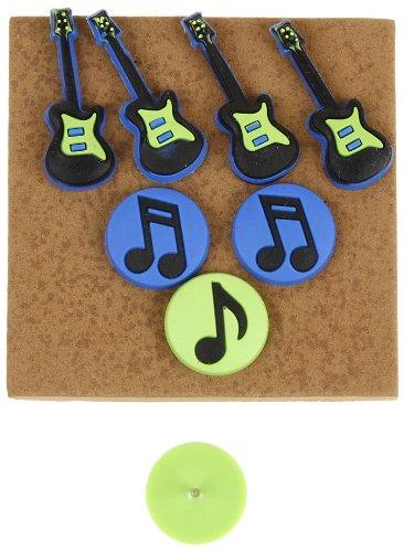 Darice Guitars Notes Push Pins