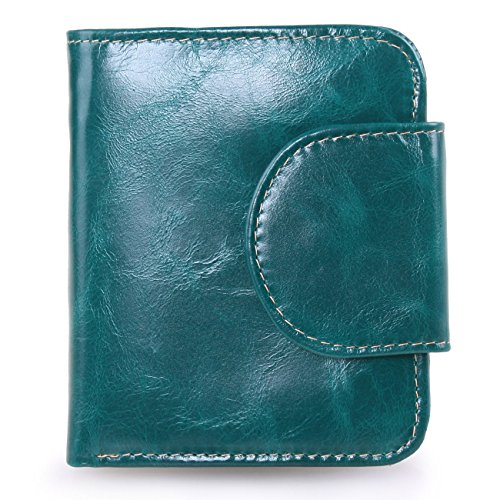 gdtk-womens-small-compact-trifold-leather-wallet-purse-with-zipper-pocket-green
