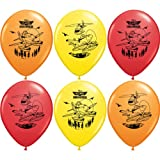 Pioneer National Latex Disney 12 Planes Fire and Rescue 6 Balloons, Assorted