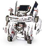 Amazon.co.jpHicolor ホワイト スペースロボット 7種類に変形できる立体モデル ソーラーロボットキット ソーラーパワーで動く3Dプラモデル  ロボットキット 知育玩具 10歳以上 想像力育成・自由研究・夏休み・ 電気工作