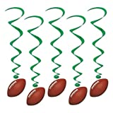 Football Whirls Party Accessory (1 count) (5/Pkg)