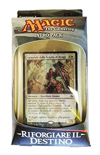 Magic The Gathering Intro Pack Mazzo Riforgiare il Destino Italiano Contiene 2 Bustine - DISPONIBILI TUTTI I COLORI