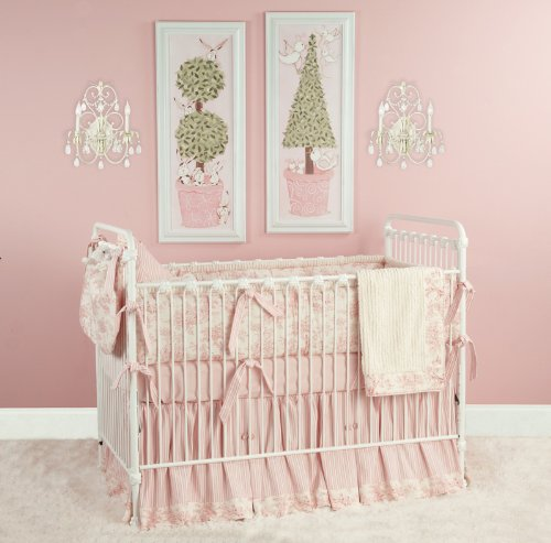 Baby Toile In Pink Crib Bedding By Doodlefish