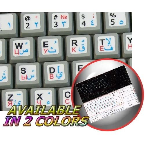 ITALIAN ENGLISH NON-TRANSPARENT KEYBOARD STICKERS ON BLACK BACKGROUND FOR NETBOOK 4KEYBOARD