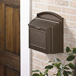 Wall Mounted Locking Mailbox Color: French Bronze