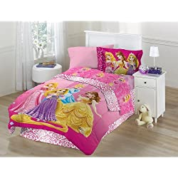 Disney's Princess Shine All The Time Twin Comforter Set