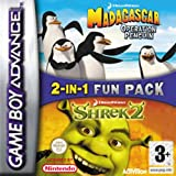 Madagascar operation penguin & Shrek 2 double pack (GBA)