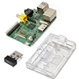 Raspberry Pi Basic Starter Kit -- Includes Raspberry Pi Board -- Case -- Wireless Wifi Adapter
