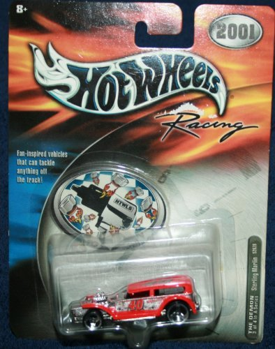 Hot Wheels Racing - NASCAR - 2001 -The Demon - #3 of 4 - Sterling Marlin #40 - 1:64 Scale Car Replica. Orange Body Color.
