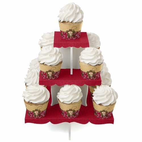 Little Cowboy - Birthday Party Cupcake Stand And 13 Cupcake Wrappers front-701779