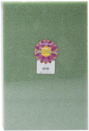floracraft-styrofoam-block-18-by-12-by-2-inch-green-1-pack