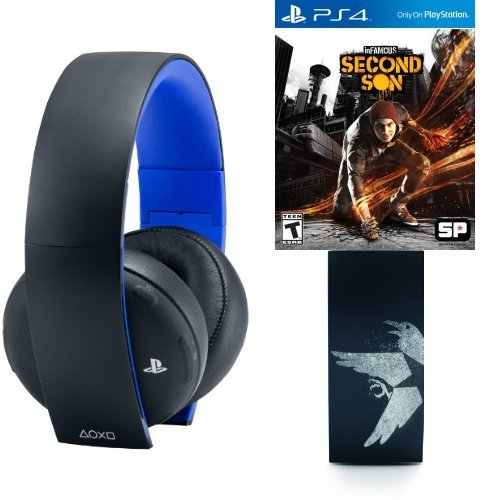 Amazon Exclusive Infamous: Second Son And Gold Headset With Free Iss Faceplates