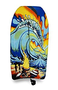 Fiery Tidal Wave Print Body Board 41 in.
