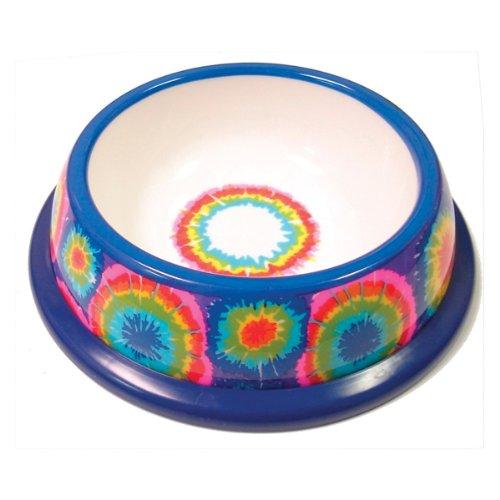 NewAgePet Paw Proof BPA-Free Plastic Tie Dye Design Pet Dish, 10-Inch