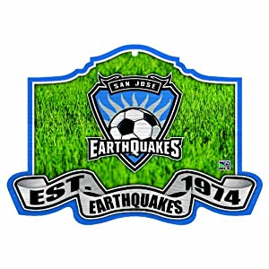 MLS San Jose Earthquakes Established 11 by 17 Wood Sign by WinCraft