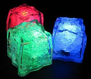 Litecubes brand plastic LED ice cube / color changing RGB (RAINBOW) - Qty 1
