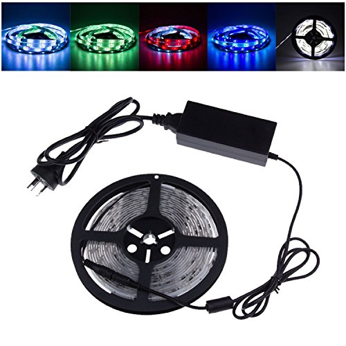E-Goal Super Bright 16.4Ft 5M Led Light Strip Waterproof 5050 150 Smd Ic 2811 Rgb Led Lighting Lamp With 12V 5A Power Supply
