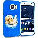 Samsung Galaxy S7 TPU Design Rubber Skin Case Cover, Polar Bear