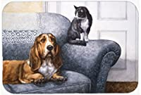 Pet Mat: Basset Hound and Cat on Couch