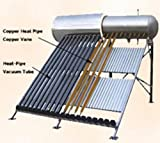 150 Liter Passive Solar Water Heater 15 Vacuum Tube with Heat Pipe Technology...