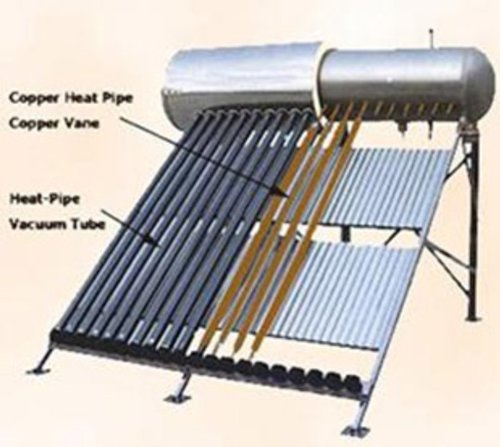 200 Liter Passive Solar Water Heater 20 Vacuum Tube With Heat Pipe Technology...
