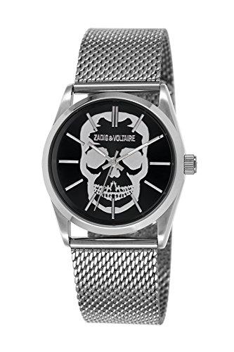Zadig & Voltaire -Reloj de Pulsera, Analógico cuarzo, Acero inoxidable, Hombre