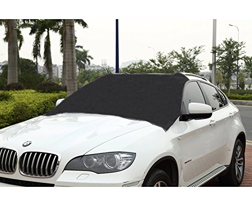 cutequeen-trading-black-waterproof-polyester-car-snow-cover-with-storage-pouch-55-x-72-with-12-side-