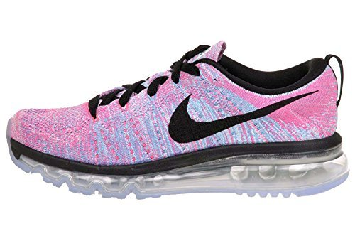 Nike Wmns Flyknit Max Womens Running Shoes, WHITE/BLACK-CHLORINE BLUE-PINK BLAST, 7.5 M US (Nike Air Max Flyknit compare prices)